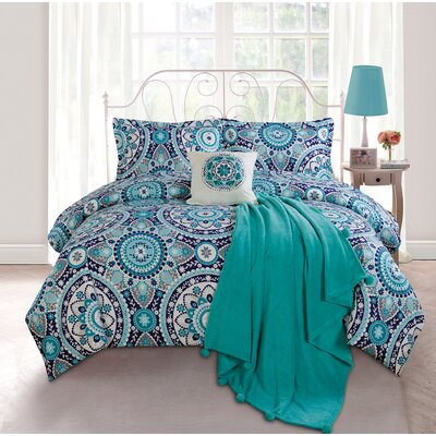 Emblem Twin XL 5 Piece Comforter Set by Luxury Home