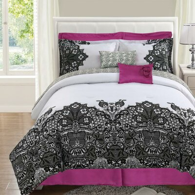 Luxury Home Lace Reversible 8 Piece Comforter Set