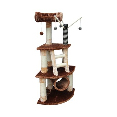 "Kitty Mansions 53"" Athens Cat Tree"
