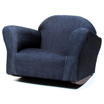 Keet Bubble Denim Children's Chair by Fantasy Furniture