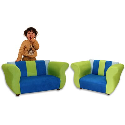 Kid's Fancy Microsuede Sofa and Chair Set by Fantasy Furniture