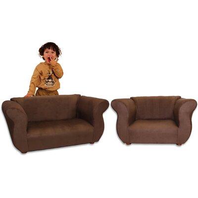 Keet Kid's Fancy Microsuede Sofa and Chair Set