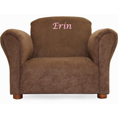 Little-Furniture Personalized Kid's Microsuede Mini Chair by Fantasy Furniture