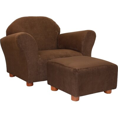 Roundy Microsuede Kids' Novelty Chair & Ottoman Set by Fantasy Furniture