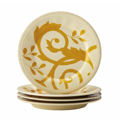 "Rachael Ray Gold Scroll 8"" Salad Plate"
