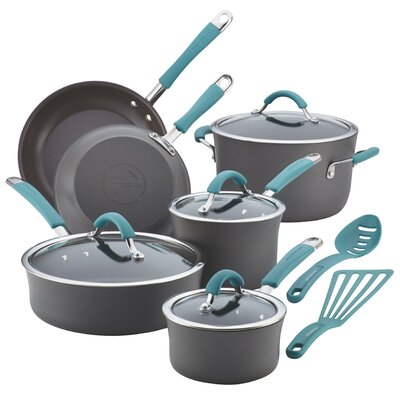 Cucina Hard Anodized Nonstick 12 Piece Cookware Set by Rachael Ray
