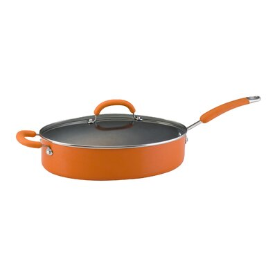Rachael Ray Porcelain II Nonstick 5 Qt. Saute Pan with Lid