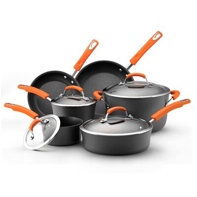 Hard-Anodized Nonstick 10 Piece Cookware Set by Rachael Ray