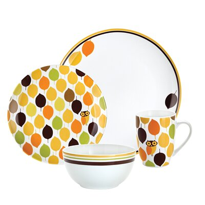 Little Hoot 4 Piece Place Setting by Rachael Ray