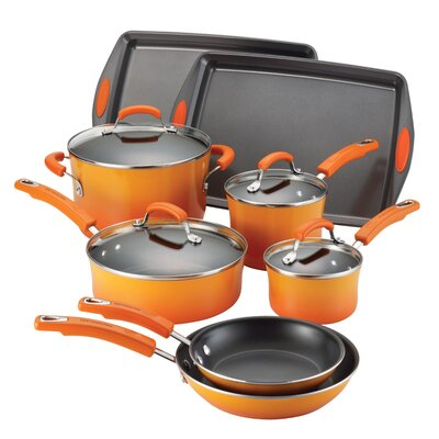 Porcelain Nonstick 12 Piece Cookware Set by Rachael Ray