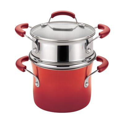 Porcelain Nonstick 3 Qt. Covered Multi-Pot by Rachael Ray