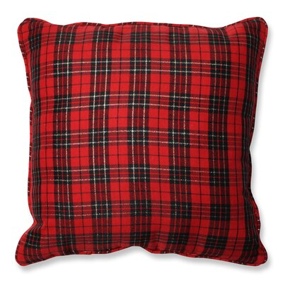 Holiday Plaid Throw Pillow by Pillow Perfect