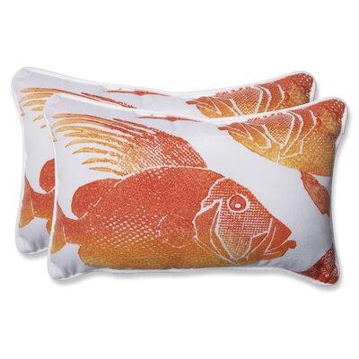 Fish Indoor/Outdoor Lumbar Pillow by Pillow Perfect