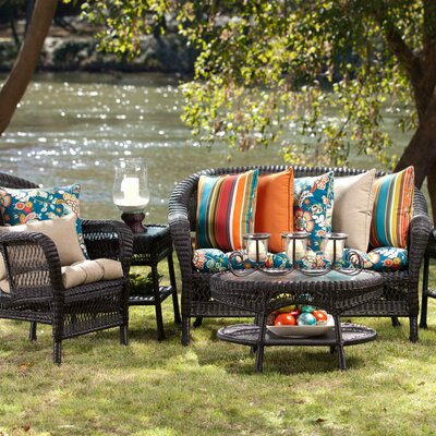 Pillow Perfect Annie / Westport Reversible Corded Outdoor Throw Pillow