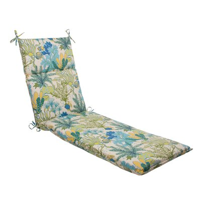 Pillow Perfect Splish Splash Outdoor Chaise Lounge Cushion