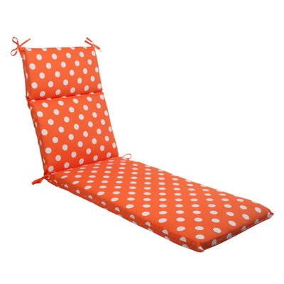 Pillow Perfect Polka Dot Outdoor Chaise Lounge Cushion