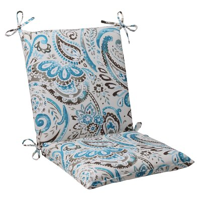 Pillow Perfect Paisley Outdoor Chair Cushion