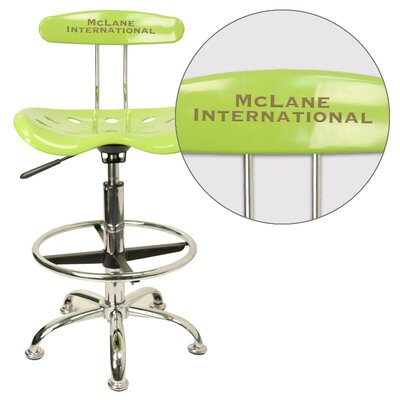 Personalized Drafting Stool With Tractor Seat By Flash