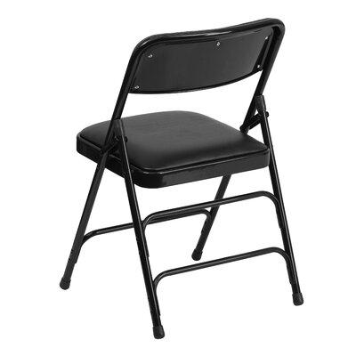 Flash Furniture Hercules Series Personalized Vinyl Upholstered Metal Folding Chair