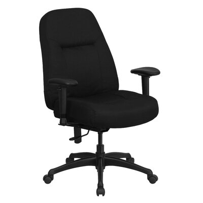 Flash Furniture Hercules Series High-Back Big and Tall Fabric Executive Chair with Height Adjustable Arms and Extra Wide Seat