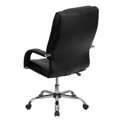 Flash Furniture High-Back Leather Executive Chair with Rolled Headrest
