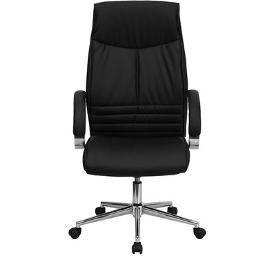 Flash Furniture High-Back Leather Executive Chair with Slim Design