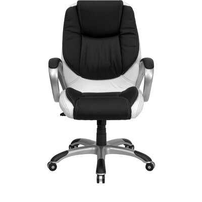 Flash Furniture Mid-Back Leather Swivel Executive Chair