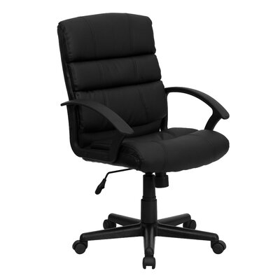Flash Furniture Mid-Back Leather Chair