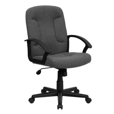 Flash Furniture Mid-Back Fabric Office Chair with Nylon Arms
