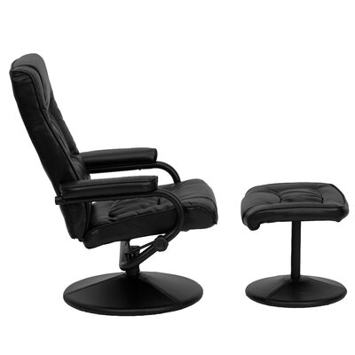 Flash Furniture Contemporary Reclining Office Chair Ottoman Set R