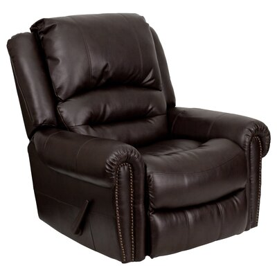 Flash Furniture Leather Chaise Recliner Reviews Wayfair