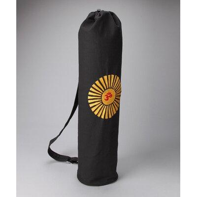OMSutra OM Surya Embroidered Yoga Bag in Black