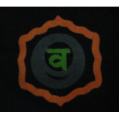 OMSutra Printed Chakra Yoga Mat Bag in Black