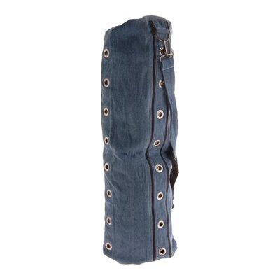 Heavy Duty Compartmental Yoga Mat Bag in Denim Blue by OMSutra