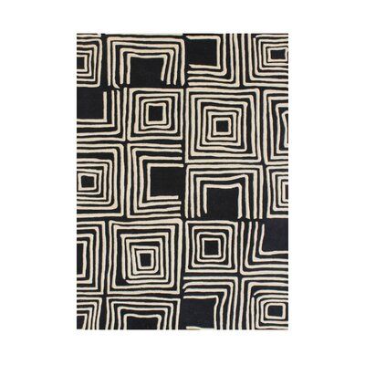 Aireal Hand-Tufted Black Area Rug by Wildon Home ®