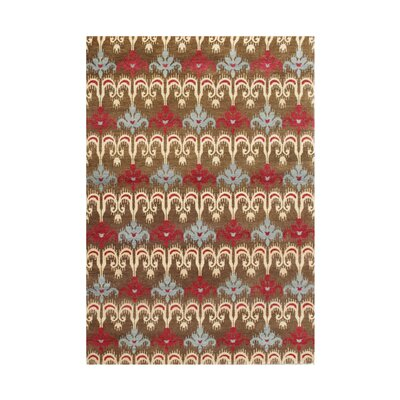 Alex Anne Hand-Tufted Brown Ikat Area Rug by Wildon Home ®