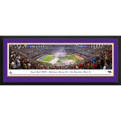 Blakeway Worldwide Panoramas, Inc NFL Super Bowl 2013 by Christopher Gjevre Framed Photographic Print