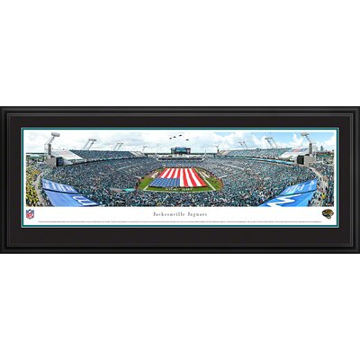 Blakeway Worldwide Panoramas, Inc NFL Jacksonville Jaguars - Opening Ceremony Deluxe by James Blakeway Framed Photographic Print