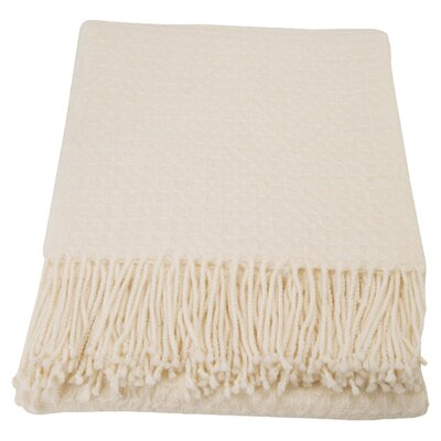 Cashmere and Merino Wool Blend Throw by Cashmere Collection