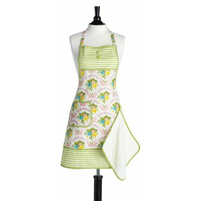Jessie Steele Scalloped Floral Bib Gigi Apron with Towel