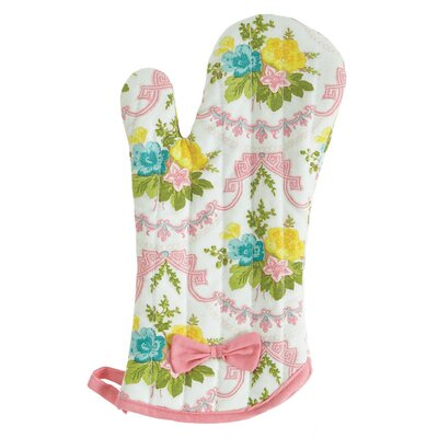 Scalloped Floral Oven-Mitt with Bow by Jessie Steele