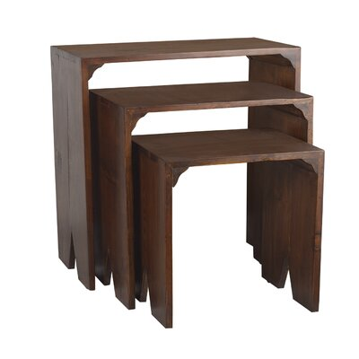 Natural Home 3 Piece Nesting Tables by Antique Revival