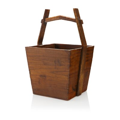 Vintage Chinese Square Bucket by Antique Revival