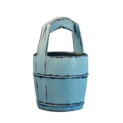 Vintage Water Bucket with Ridged Handle by Antique Revival