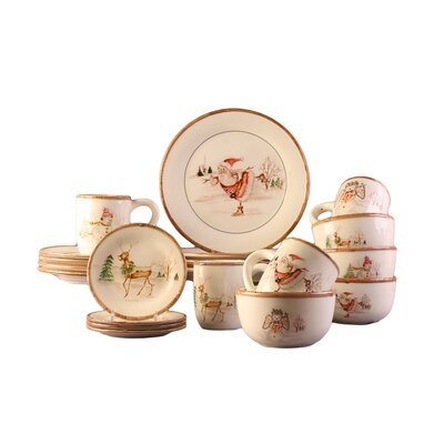 Christmas Twig 20 Piece Dinnerware Set by American Atelier