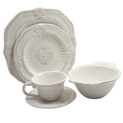 Baroque 20 Piece Dinnerware Set by American Atelier
