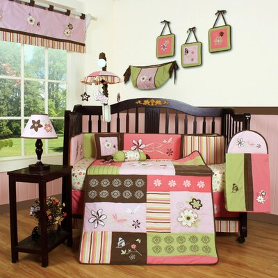 Boutique Floral Dream 13 Piece Crib Bedding Set by Geenny
