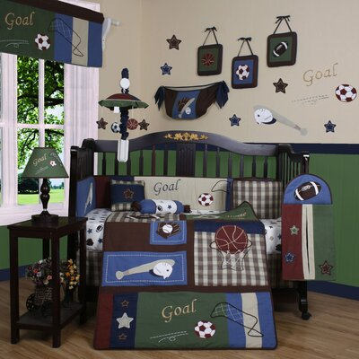 Geenny Boutique Classic Sport 13 Piece Crib Bedding Set
