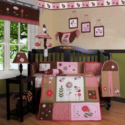 Boutique Ladybug Flower 13 Piece Crib Bedding Set by Geenny