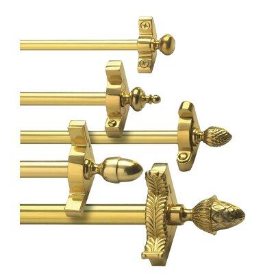 """Zoroufy Stair Jewel 48"""" Fluted Tubular Stair Rod Set with Decorative Brackets Urn Finial"""